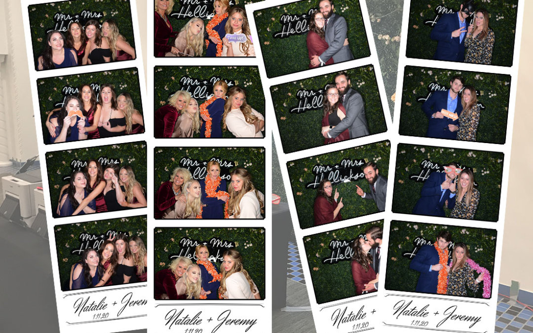 Natalie & Jeremy's Wedding Photo Booth at The Tea Room Des Moines Iowa
